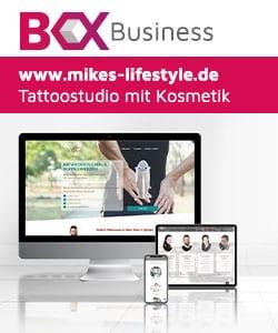 Drei Geräte mit einer Webboxes-Business Website