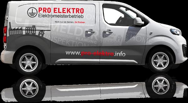 Firmenwagen mit Folierung für Elektrobetrieb