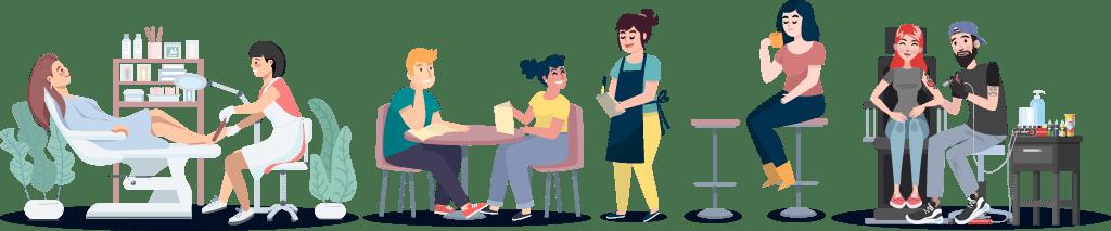 Kosmetiker, Gastronomen und Tätowierer in der Corona-Krise